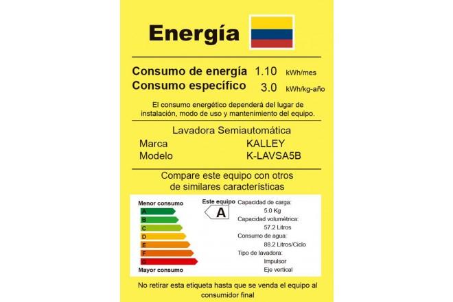 Lavadora KALLEY 5Kg K-LAVSA5B Blanco7