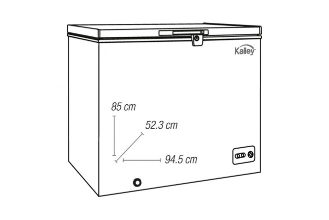 Congelador KALLEY Horizontal 198Lt K-CH198L02 Blanco3