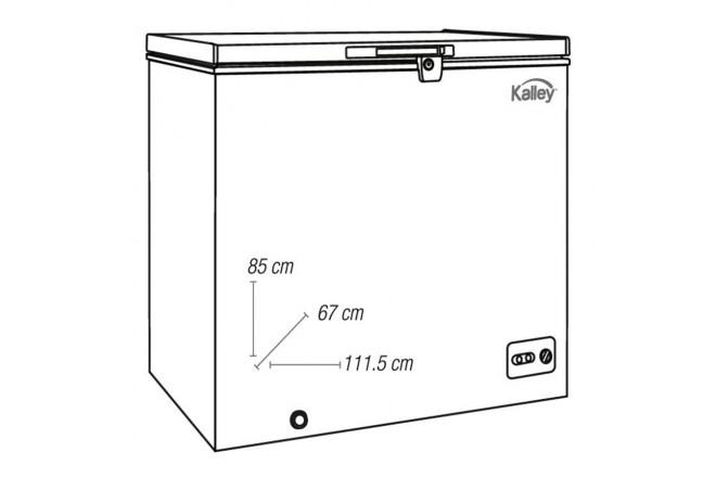 Congelador KALLEY Horizontal 295Lt K-CH295L02 Blanco4
