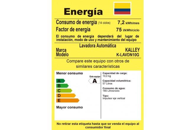 Lavadora KALLEY 10Kg K-LAVDN10G GWT Gris3
