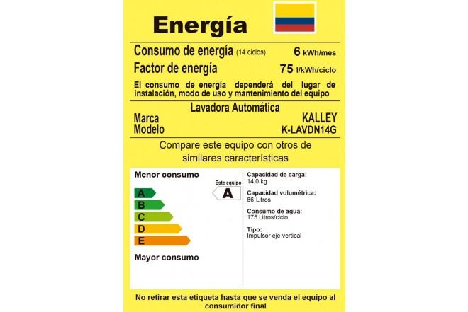 Lavadora KALLEY 14Kg K-LAVDN14G GWU Gris4