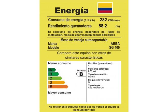 Estufa de Mesa ABBA 20 SG 400-6N N Gas Natural
