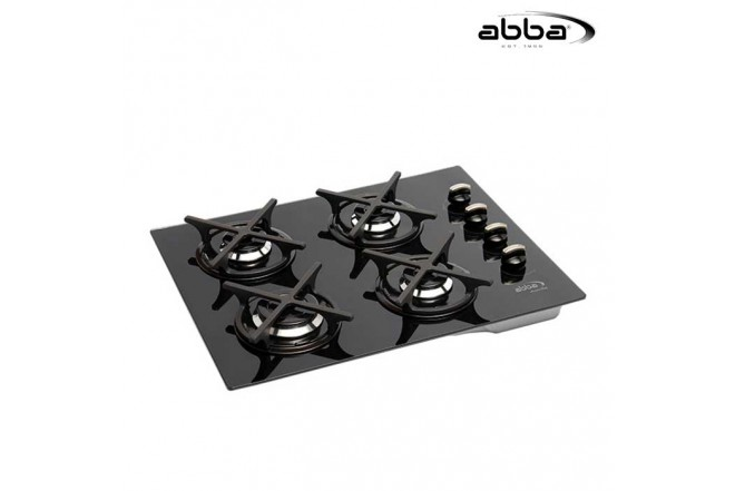 Cubierta ABBA 60cm CG 401 V3C Gas Natural Color Negro