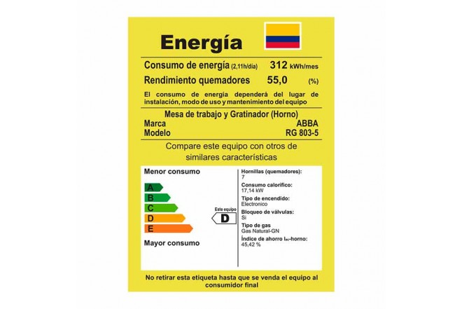 Estufa Abba RG803-5 HT76cmEAGN9