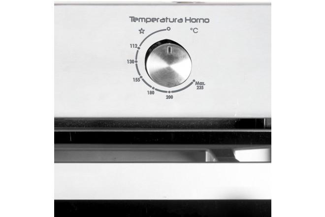 Horno de Empotrar ABBA HGE20VGTLN  Gratinador Gas Natural Acero Inoxidable y Vidrio Negro Reflectivo