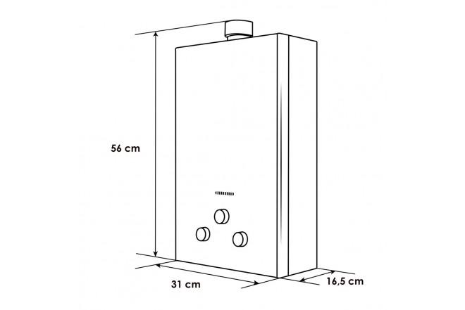 Calentador de Paso ABBA BITF-6QF3 GN |6 Litros Tiro Forzado Gas Natural Seguridad por Ionización