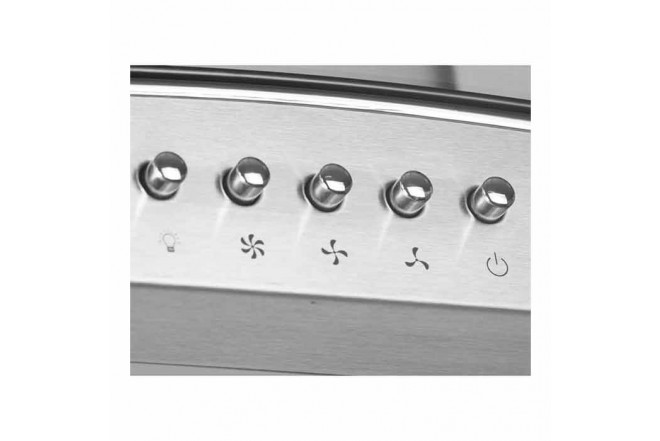 Campana Tipo Península ABBA CRV60   X | Acero Inoxidable | 3 Velocidades | Bombillos Halógenos | Vidrio Plano3