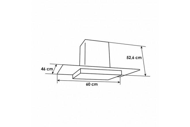 Campana Tipo Península ABBA CRV60   X | Acero Inoxidable | 3 Velocidades | Bombillos Halógenos | Vidrio Plano5