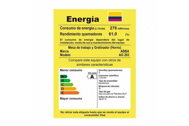 Estufa de Piso ABBA AG203-4LMTH51EAGP EIZ Negro9