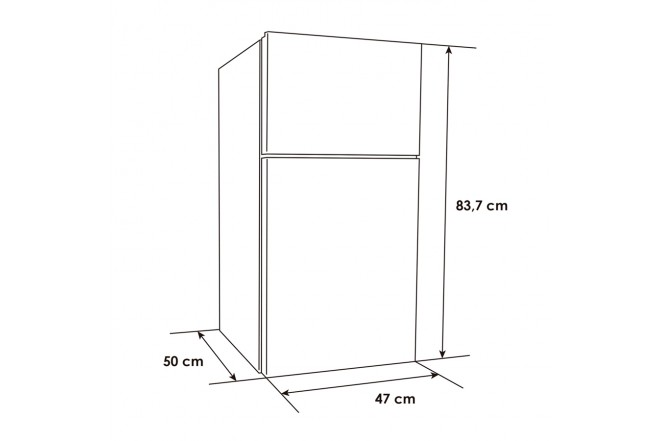 Minibar Dúplex ABBA NVARS113S | 2 Puerta | Frost | 87 Litros | Silver8