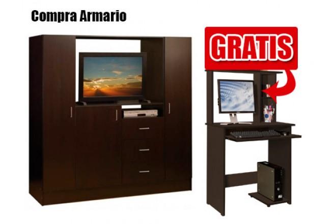 Kombo MODUART Armario + Centro de Computo Wengue