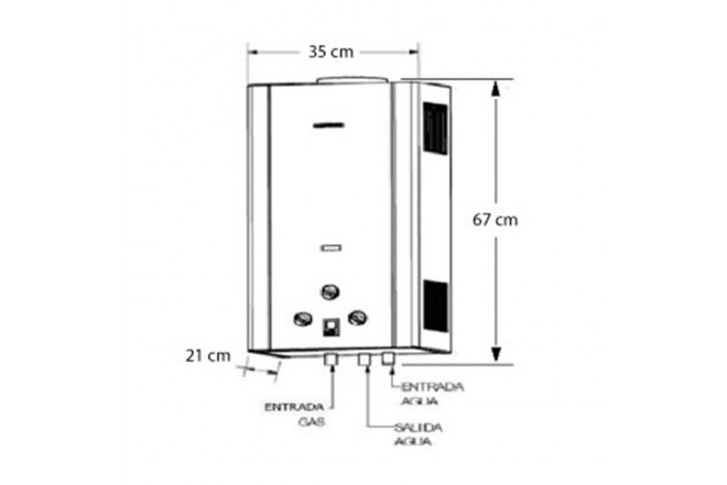 Calentador de Paso CHALLENGER 12L Tiro Natural WH7112 GN2