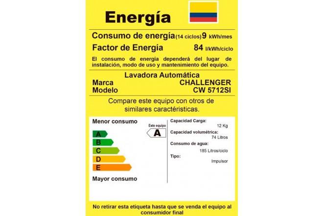 Lavadora CHALLENGER 12Kg CW5712 Gris2