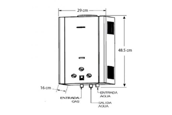 Calentador de Paso CHALLENGER 6Lts Tiro Natural WH7060G GN2