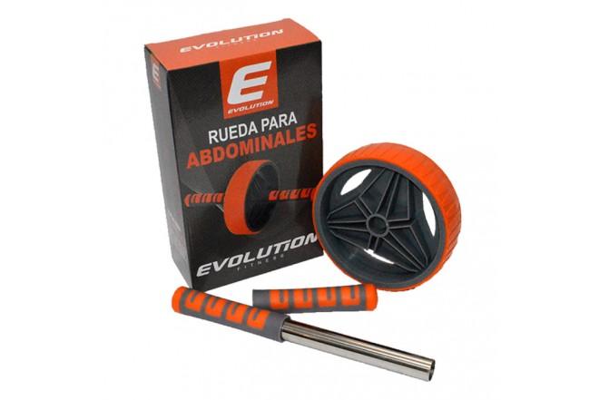 Rueda Abdominal Plus Naranja/Gris EVOLUTION