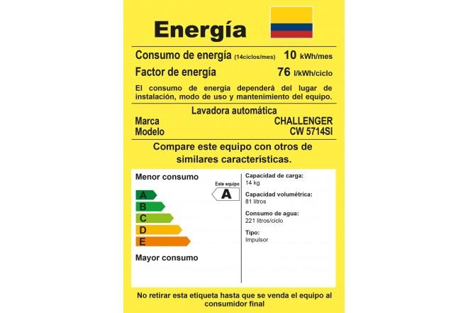 Lavadora CHALLENGER 14Kg CW5714G Gris 3