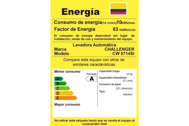 Lavadora CHALLENGER 14Kg CW5714G Gris2
