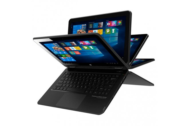 "Convertible 2 en 1 PC SMART - 360 Plus - Intel Atom X5- 11"" Pulgadas - Disco Duro 32Gb - Negro"