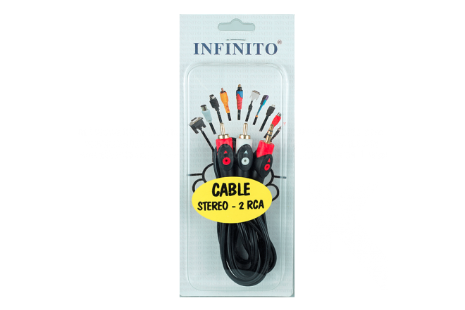 Cable INFINITO Audio 2RCA /1Stereo