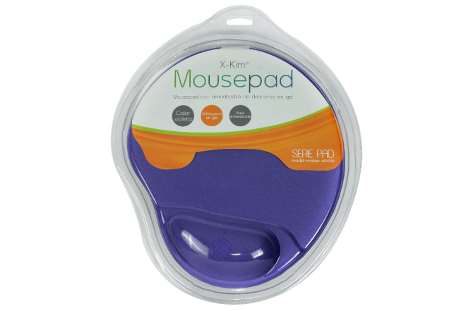 Mouse Pad X-KIM Gel Púrpura (Accesorios de informática)
