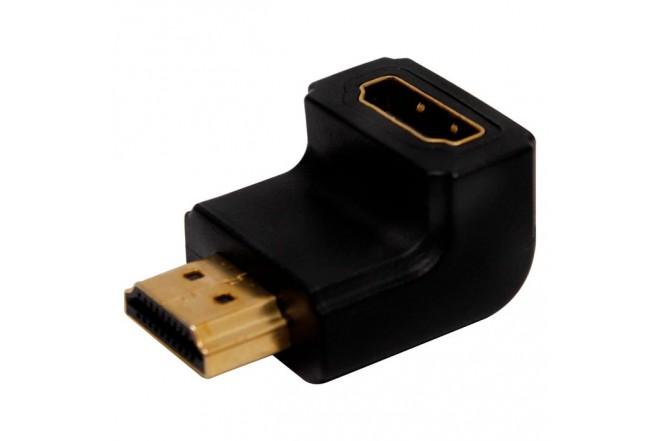 Adaptador HDMI BESTCOM Macho/Hembra 90° Negro