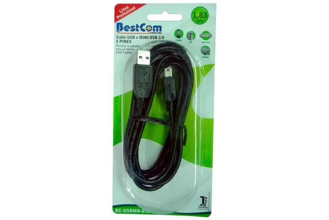 USB A a USB B 5 BESTCOM pin MINI Cable 1.83 mts