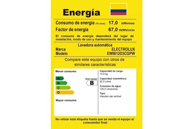 Lavadora ELECTROLUX 12 Kg EWIB12D3CG BTL Blanco3