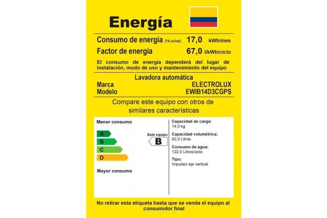 Lavadora ELECTROLUX 14 Kg EWIB14D3CG GTM Gris3