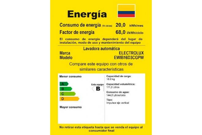 Lavadora ELECTROLUX 16Kg EWIB16D3CGW BTT Blanco4