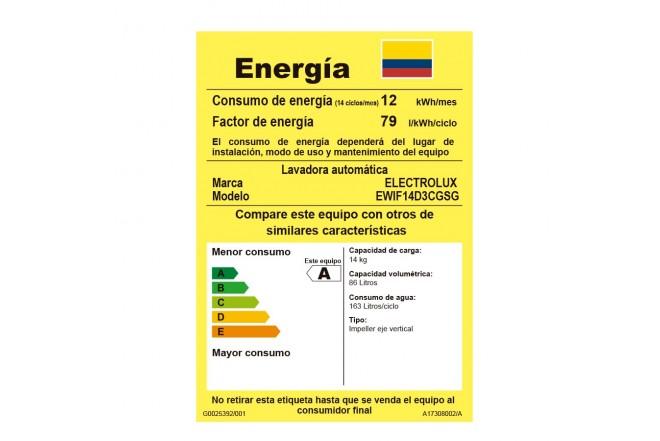 Lavadora Electrolux 14 Kg Efficace G6