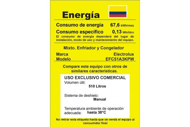 Congelador Horizontal ELECTROLUX 510Lt EFC51A Blanco