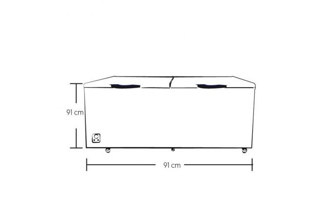 Congelador Horizontal ELECTROLUX 725Lt EFC72A3KPW Blanco2
