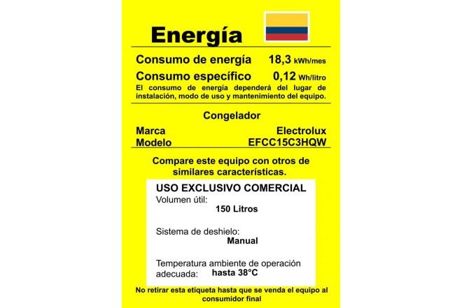 Congelador Horizontal ELECTROLUX 145 Lt EFCC15C3 Blanco3