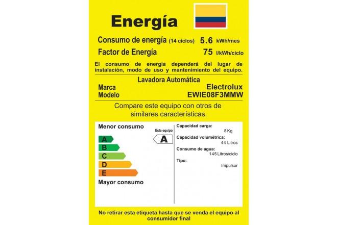 Lavadora ELECTROLUX 8KG EWIE08F3MMW Blanco5