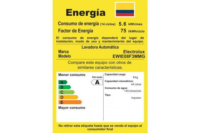 Lavadora ELECTROLUX 8KG EWIE08F3MMG Gris4