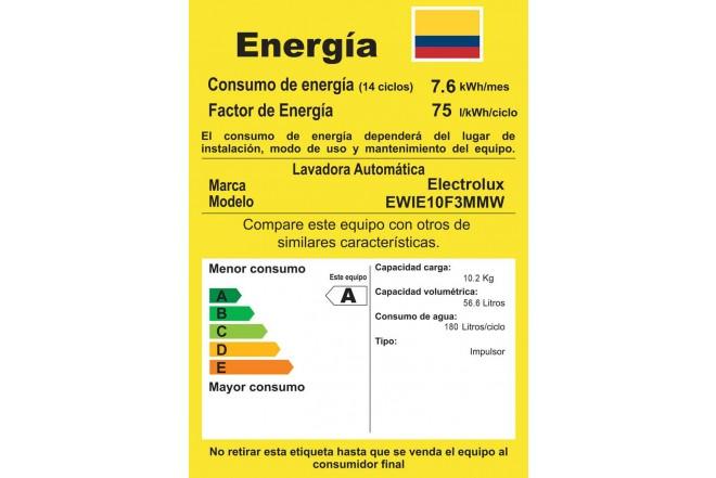 Lavadora ELECTROLUX 10Kg EWIE10F3MMW Blanco5