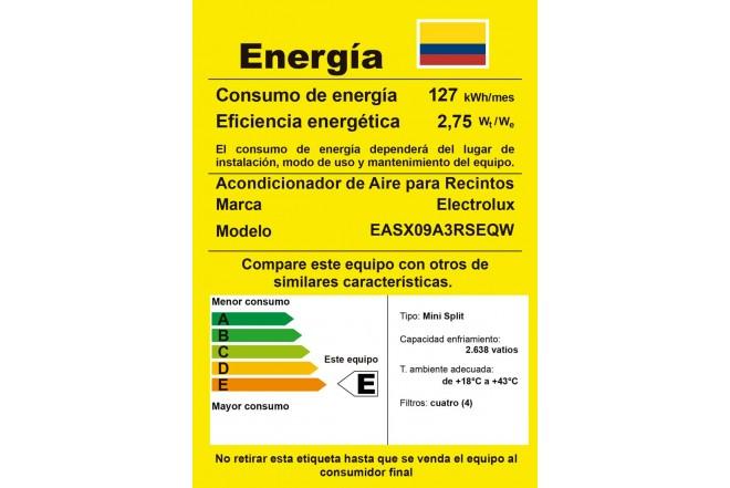 Aire Acondicionados ELECTROLUX EASX09A3RSEQW RETIQ