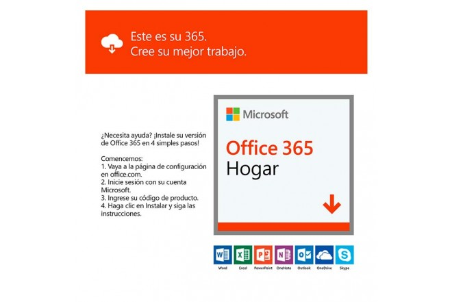 Pin Virtual OFFICE 365 Hogar (6 Usuarios Online)6