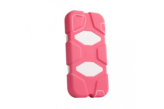 Funda GRIFFIN Survivor iPhone 5 Rosado Blanco
