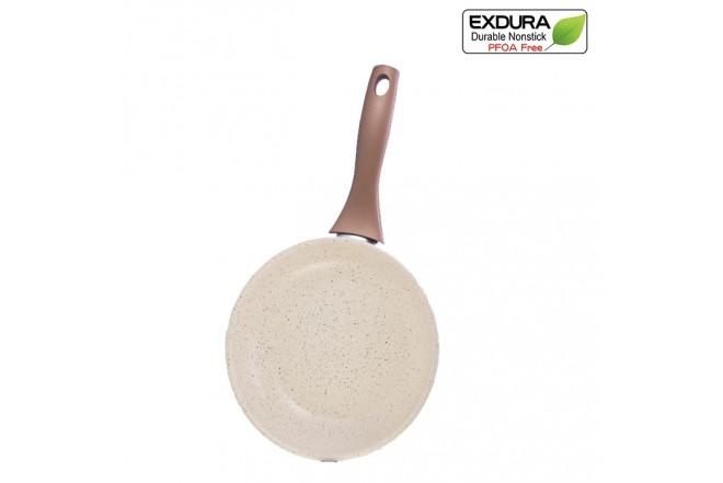 Sartén EXDURA 20 Cms Beige Apto para Estufa de inducción