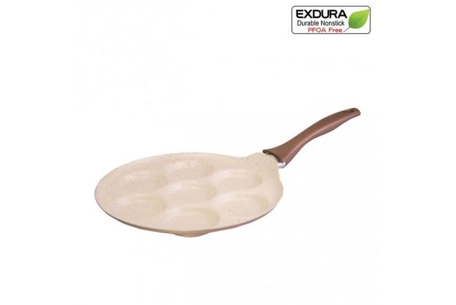 Sartén 7 Moldes EXDURA Beige Apto para Estufas de Inducción