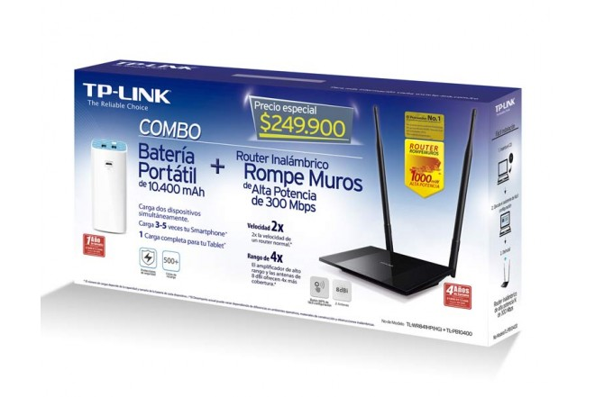Combo Router 300mbps + Bat10.400mA