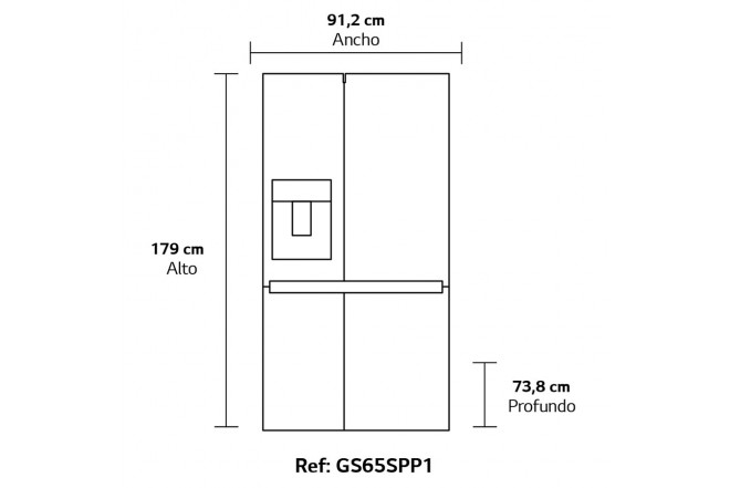 Nevecon LG  668Lt GS65SPP1 Silver