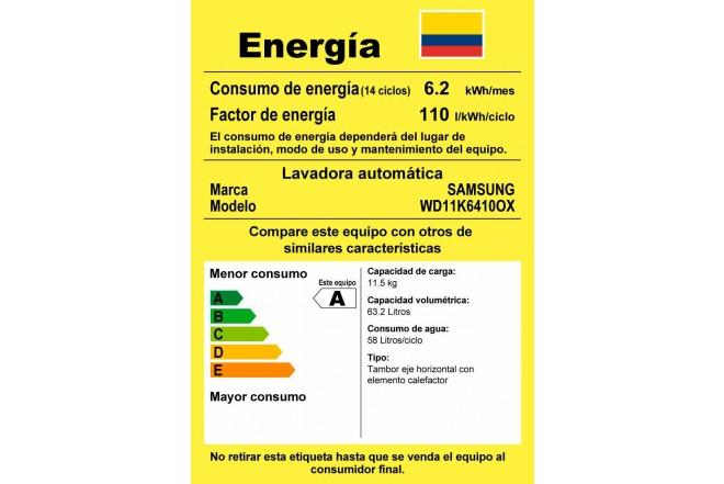 Lavadora / Secadora SAMSUNG Carga Frontal 11,5Kg WD11K6410 Inox15