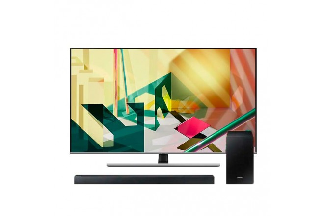 COMBO TV SAMSUNG 55″ Pulgadas 55Q70T + Barra de sonido HW-R450
