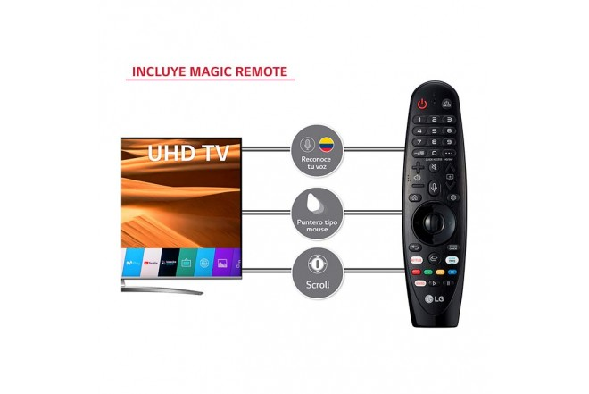 Tv LG 65 pulgadas 164 cm 65UM7650PDB LED 4K Smart TV