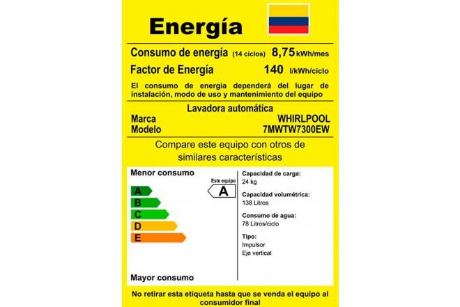 Lavadora WHIRLPOOL 24 Kg 7MWTW7300EW Blanco11