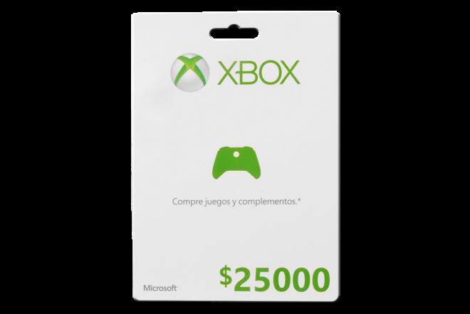 Tarjeta Live XBOX 25000 (Accesorios)