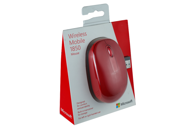 Mouse MICROSOFT 1850 Wireless Mobile Rojo