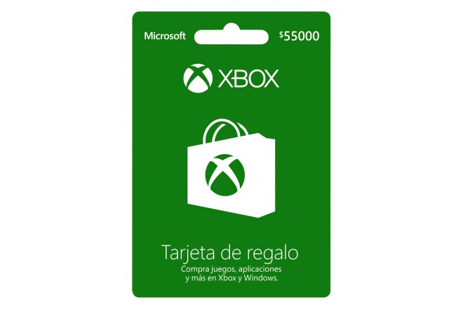 Tarjeta Regalo XBOX  $ 55000